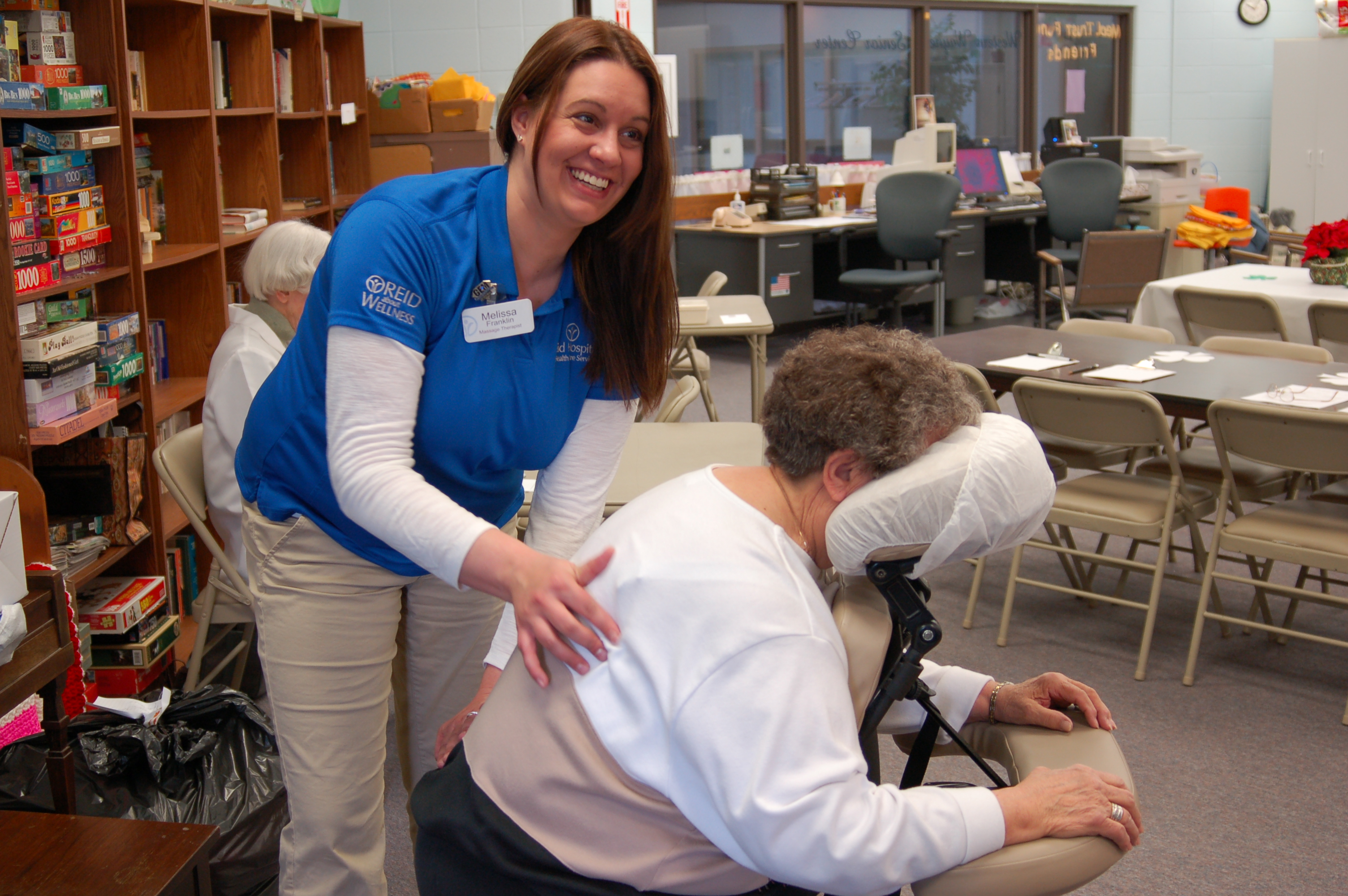 ... 350-400 senior citizens who would not otherwise have the opportunity to  experience professional massage at this important time in their lives.
