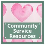 community service resources button