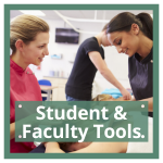 student and faculty tools button